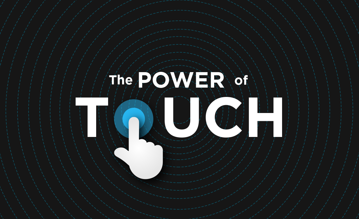 the power of touch graphic